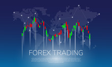 Forex Trading On World Map Bac...