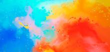 Bright Abstract Watercolor Dra...
