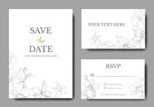 Vector. Orchid Engraved Ink Art. Wedding Background Card. Thank You, Rsvp, Invitation Elegant Card Illustration Graphic.