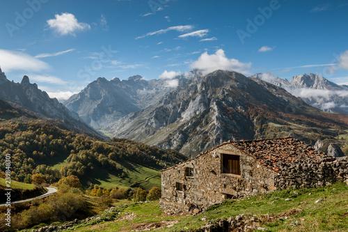 Sotres village in Picos de Europa Wallpaper Mural