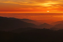Coastal Californa Sunset Over ...