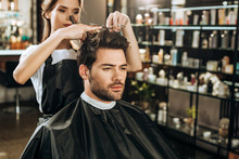 Beautiful Young Hairdresser Cu...