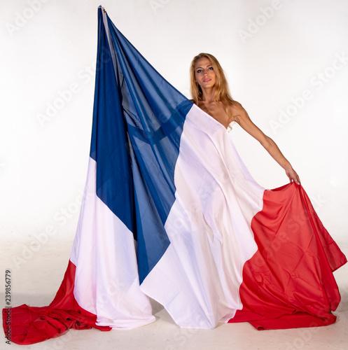 Obraz na płótnie Vive la France et les françaises