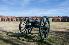 A Large Cannon At Fort Pulaski...