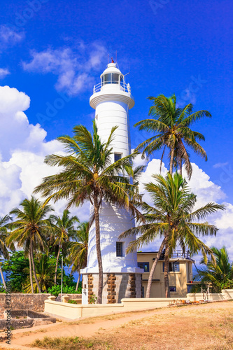 Landmarks of Sri Lanka - lighthouse in Galle fort, south of island