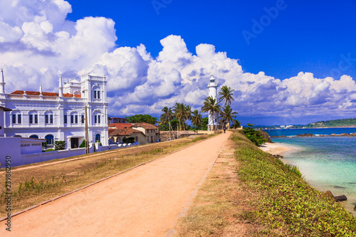 Landmarks of Sri Lanka - Galle fort, south of island, popular tourist destination