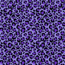 Leopard Print Seamless Pattern - Leopard Print Design In Purple Colors