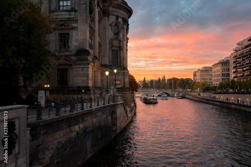 Sunset Berlin Germany Spree Water City