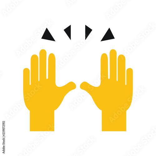 Photo raised hands emoji vector