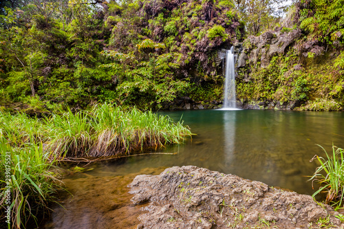 Pua'a'ka'a Falls along the Road to Hana in Maui, Hawaii Canvas Print