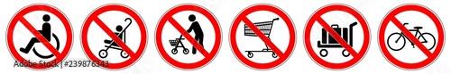 Fotografía  ssne22 SafetySignNewEscalator ssne - german - Rollstuhl, Kinderwagen, Gehhilfe,