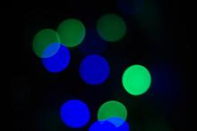 Blue Green Bokeh.