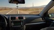 Interior of the car. View on car torpedo. Selective focus.
