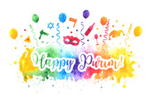 Happy Purim Jewish Holiday Gre...