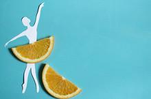 Orange Fruit Background With B...
