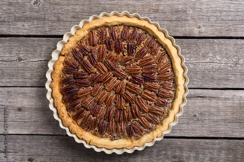 Fototapeta Autumn american pecan pie