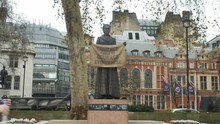 Statue Of Suffragette Millicent Fawcet In Parliament Square, ZOOM IN.