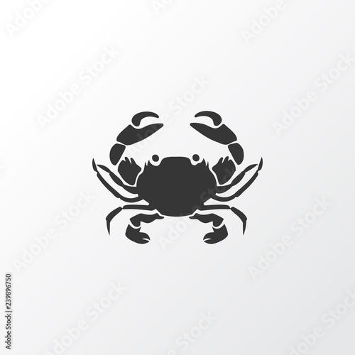 Fotografie, Obraz  Crab icon symbol