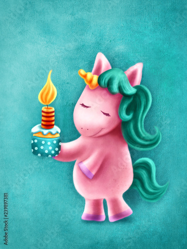 Tablou Canvas Cute unicorn