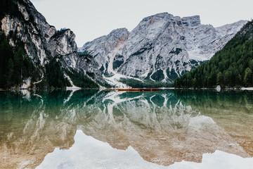 Panel Szklany Eko Pragser Wildsee Südtirol Italien