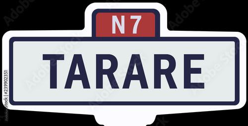 TARARE - Ancien panneau entrée d'agglomération Fototapeta