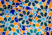 Céramiques Mosaïques, Art De Gaudi, Parc Guell De Barcelone