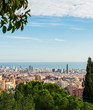 panorama of barcelona from park guell