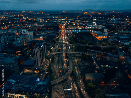 Streets of Glasgow at night