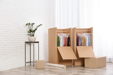 Wardrobe Boxes With Clothes Ne...