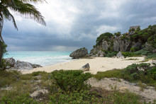 Stormy Beach Tulum Mexico