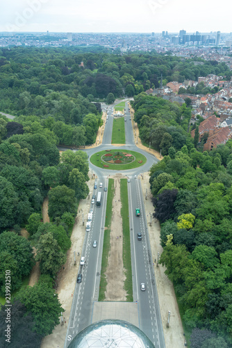 Photo view from atomium brussels