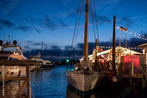 Fotomural Newport Harbor Nighttime
