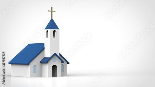Fotografie, Obraz  教会 左