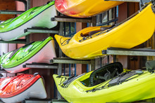 Brightly Colored Kayaks For Re...