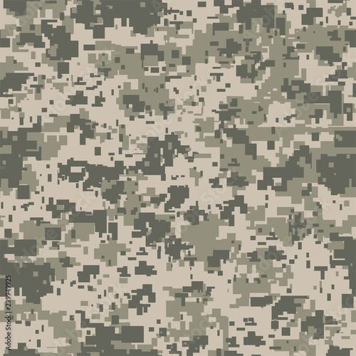 Fotomural Digital pixel camouflage seamless pattern for your design