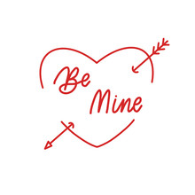 Be Mine Hand Drawing Vector Le...