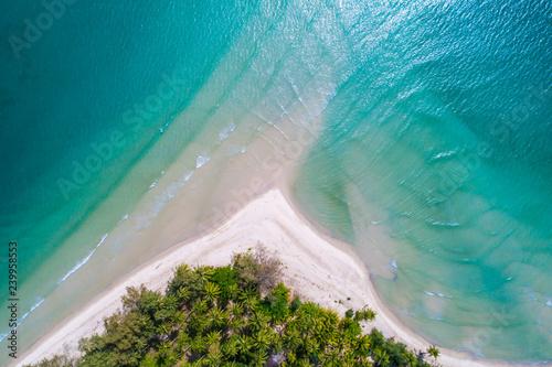 Foto auf Gartenposter Wasser Aerial view of amazing angel sea beach turquoise water