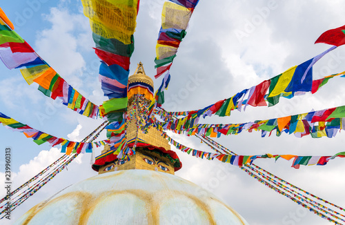 Obraz na plátně Boudhanath Stupa in Kathmandu, Nepal
