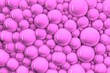 canvas print picture - 3D Gentle Pink Glossy Bubbles