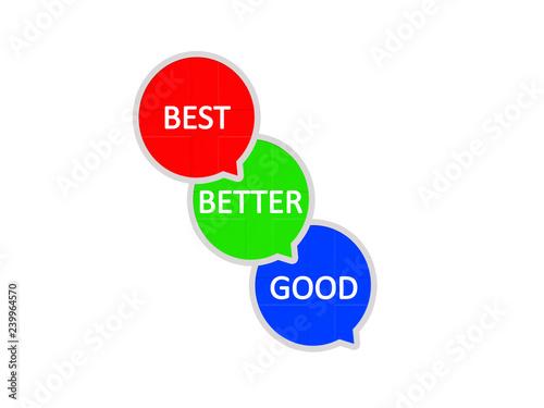 Fotografía  Good better best speech bubble