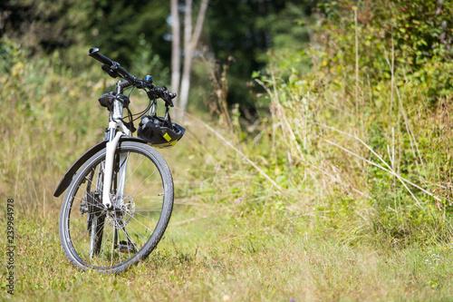 Fototapeta Bike tour, outdoors, text space