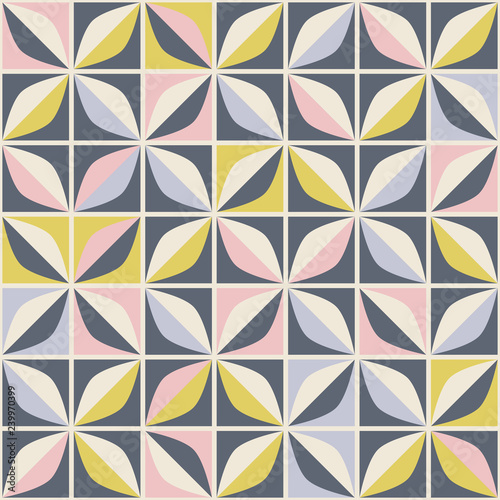 seamless retro pattern in mosaic style Canvas Print