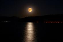 Full Moon Above Kastoria, Greece