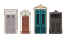 Colorful Front Wooden Door To ...