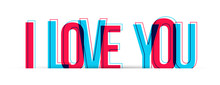 I Love You Sign Text. Vector I...