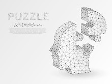Origami Style Jigsaw Puzzle He...