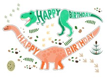 Birthday Card With Dinosaur.
