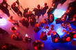 canvas print picture - Party and corporate concept. People at the tables, top view.