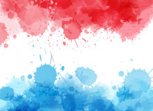 Watercolor Flag In Luxembourg Colors