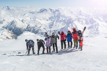A Group Of Climbers Are Happy ...